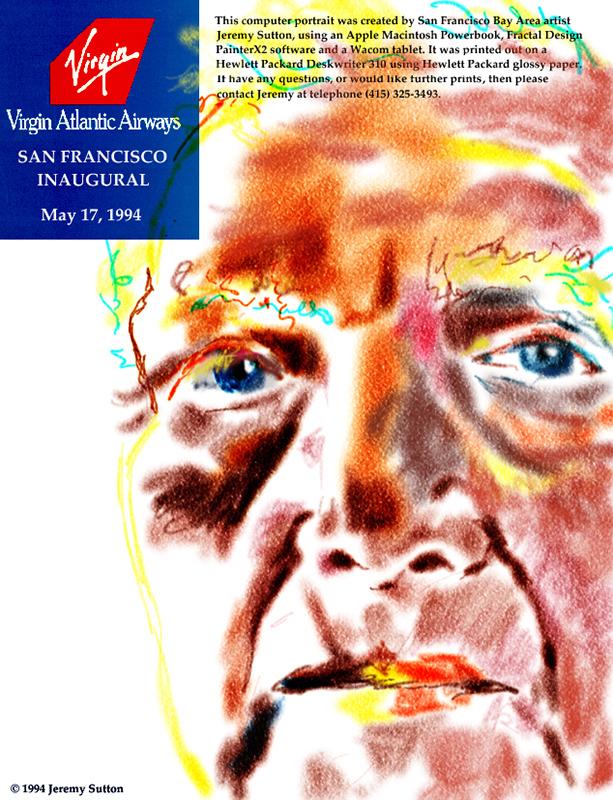 Jeremy Sutton Studios Virgin AtlanticSan Francisco Inaugural1994
