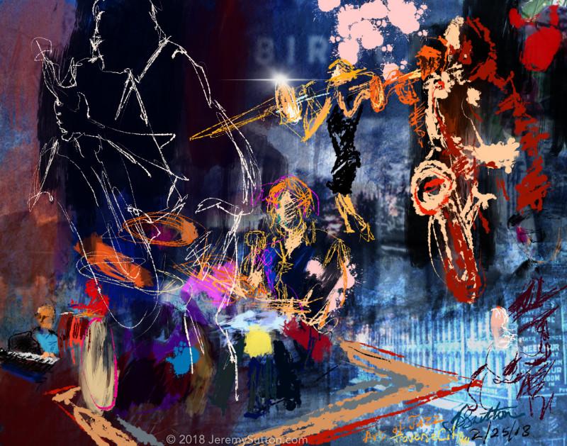 Jeremy sutton studios art of jazz 2018 tour jeremy for Craft shows in traverse city mi